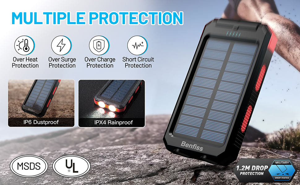 solar cell phone charger portable, solar power phone charger, solar powered battery pack