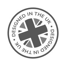 Ontworpen in het Verenigd Koninkrijk