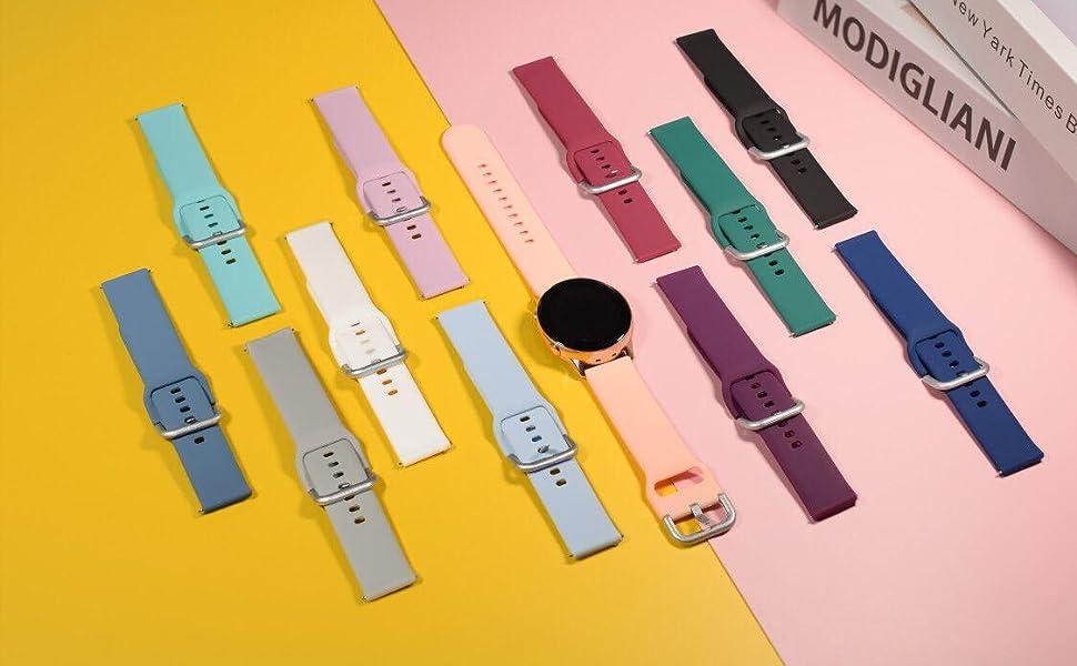 samsung galaxy active 2 watch 3 band 40mm 44mm smart watch bands smartwatch 20mm strap