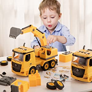 Construction Truck Take Apart Toy for Boys