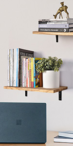 Wood Wide Floating Shelves for Wall, 8 Inch Deep