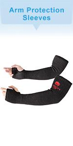 Kevlar-Sleeves Arm Protection Sleeves with Thumb Hole