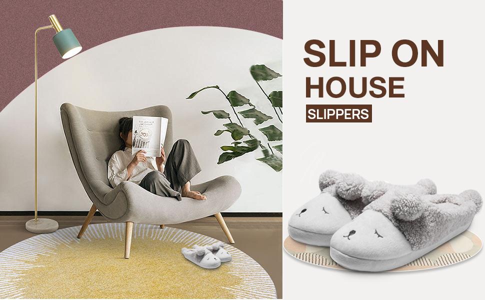 Slip on house slippers