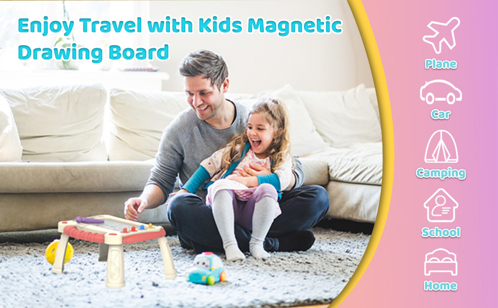 Colorful Magnetic Drawing Board for Kids