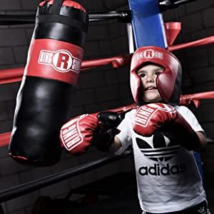 kids boxing set, kids boxing gift, kids boxing gift set, kids boxing bundle, mini heavy bag