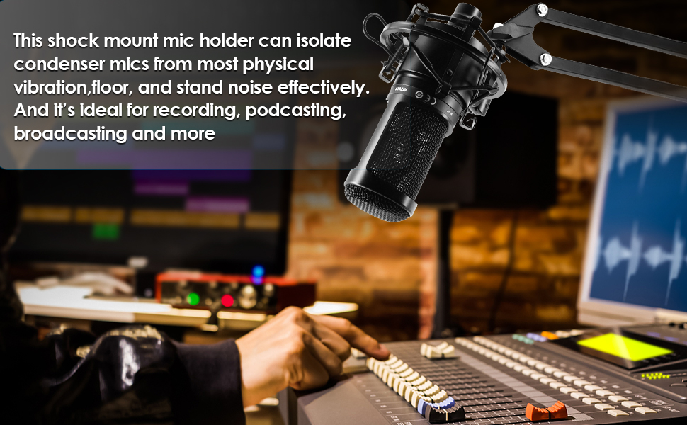shock mount mic holder Compatible for audio technical AT2020/2020USB/AT2035/AT2050