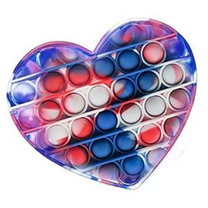 heart tie dye Fidget Toy Poppers