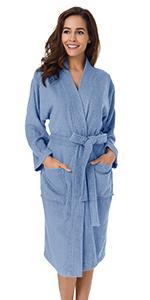 Womens Kimono Terry Cloth Robes