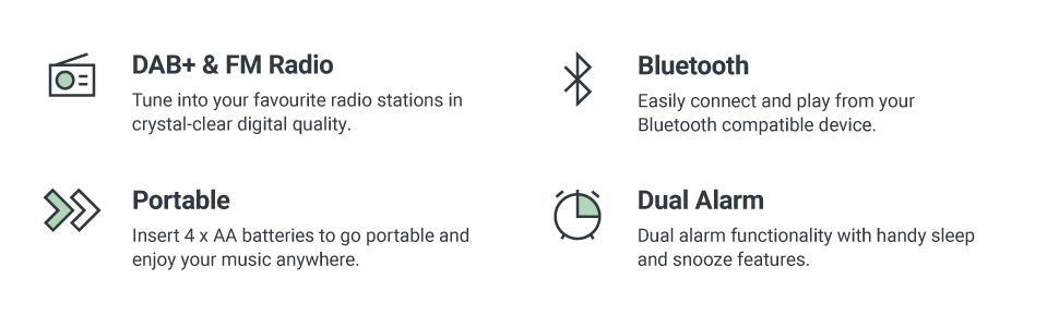 Majority Little Shelford Portable Bluetooth DAB+ Radio