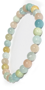 Domog bracelet en pierre naturelle morganite lithothérapie