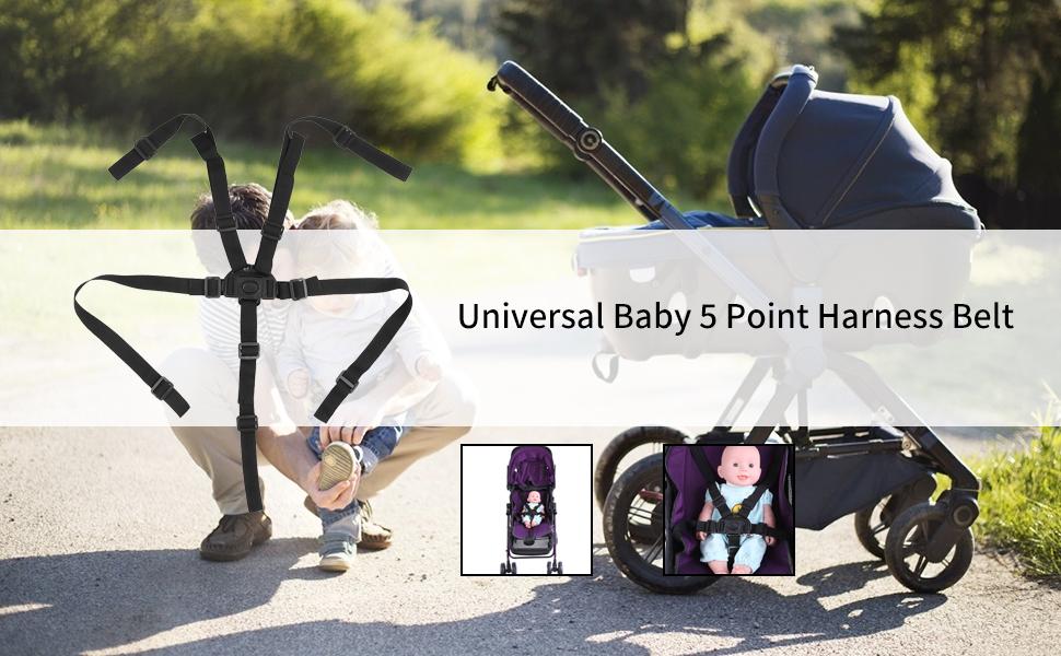 Universal Baby 5 Point Harness Belt