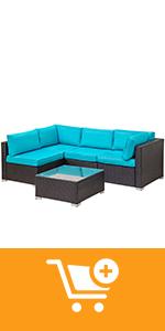 5 pieces outdoor furniture set