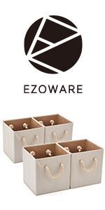 EZOWare Boîte de Rangement en Tissu de Coton