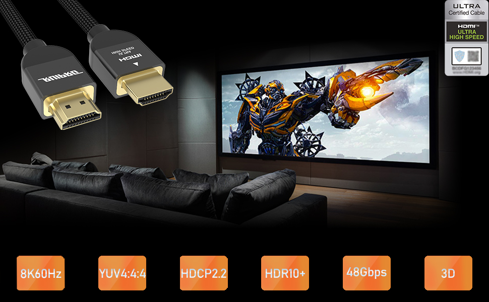 RUIPRO 8K copper wire series Ultra High Speed HDMI 2.1 cable