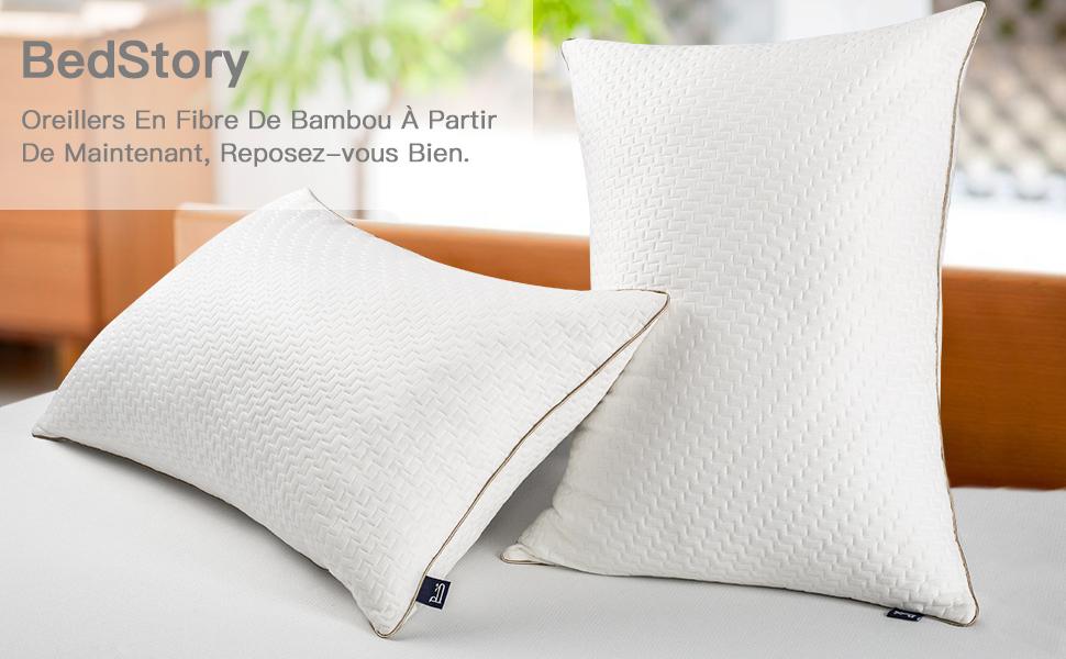 oreiller en fibre polyester