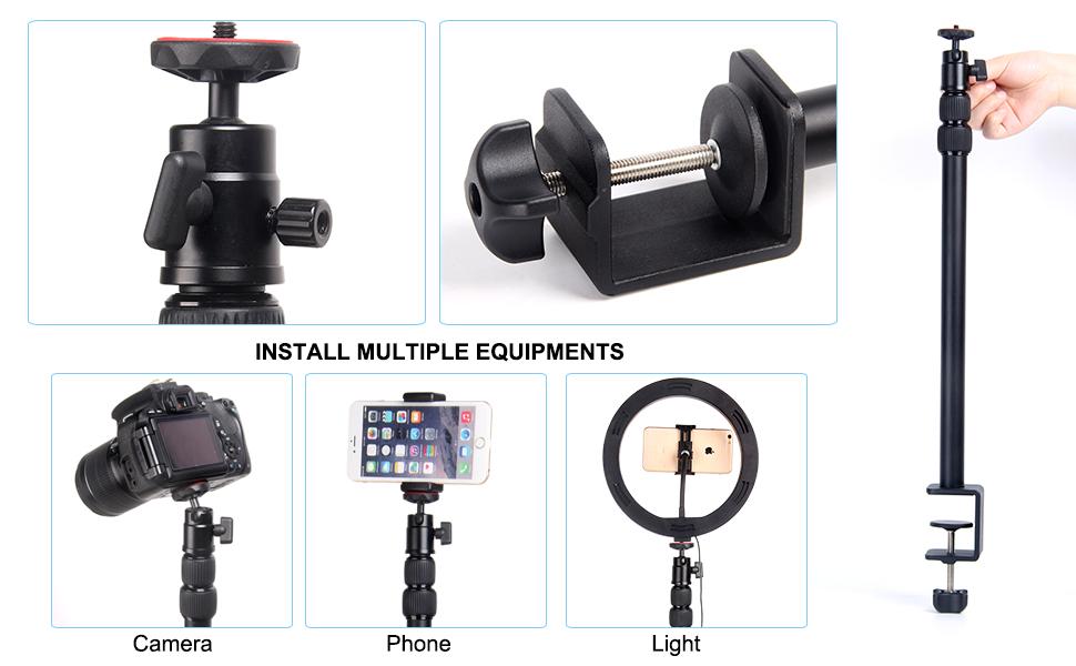 desktop camera mount light mount phone mount
