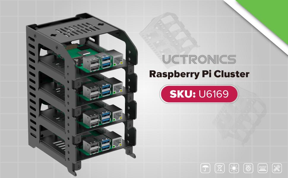 UCTRONICS Raspberry Pi Cluster Case U6169