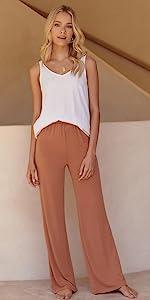 Womens Yoga Sweatpants Comfy Lounge Pants
