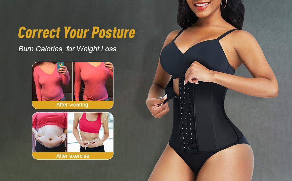 waist trainer for women latex waist cincher