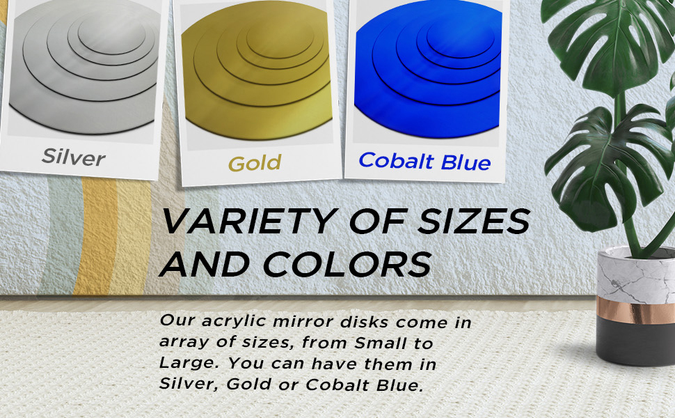 Round Acrylic Mirror Sheet, Round Mirror Ideal for Home, Wedding, Centerpiece, Table, Decoration