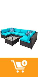 7 pieces outdoor patio furniture sets