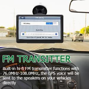 FM: FM transmitter (76.0MHz -108MHz)
