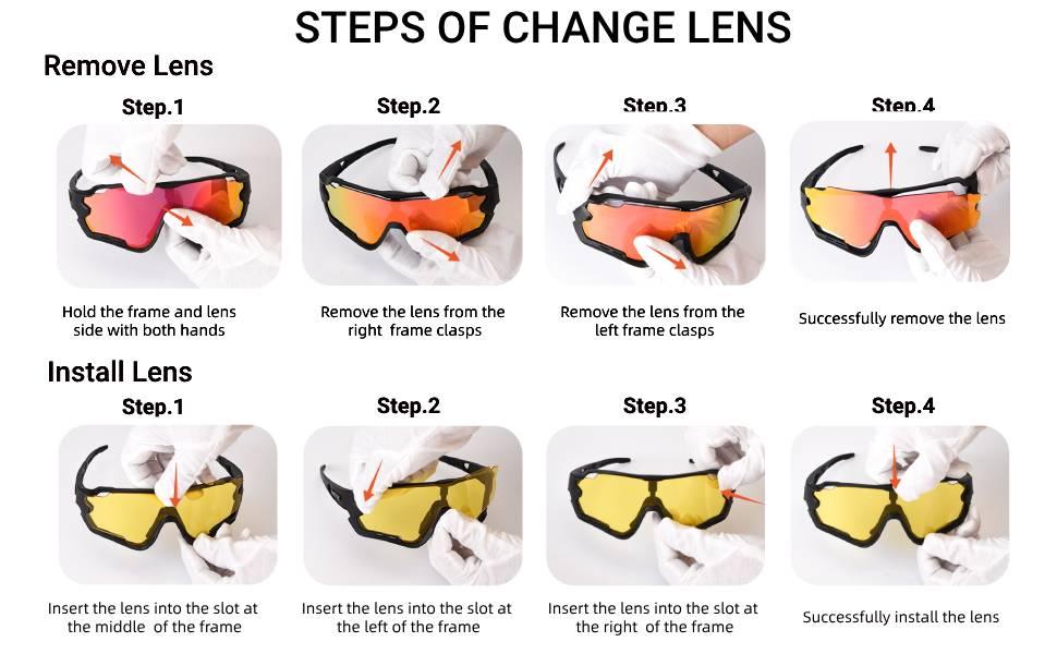 3 lens cycling glasses