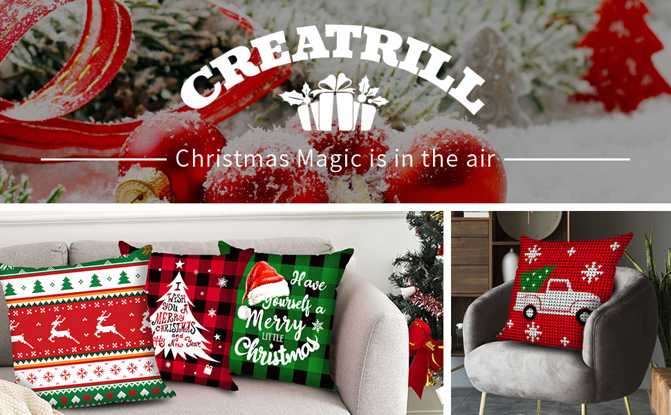 18x18 christmas pillow covers decorative