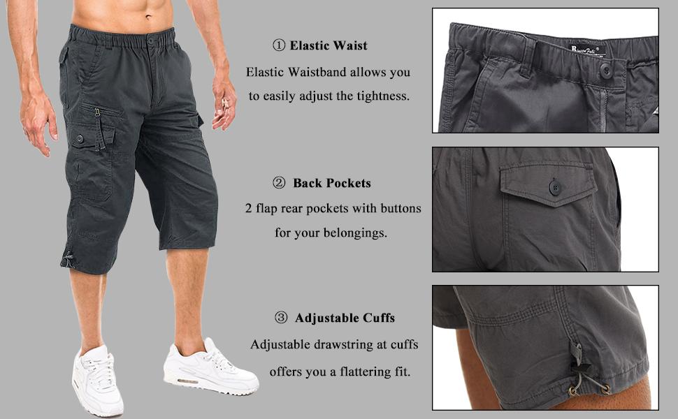 3/4 cargo shorts