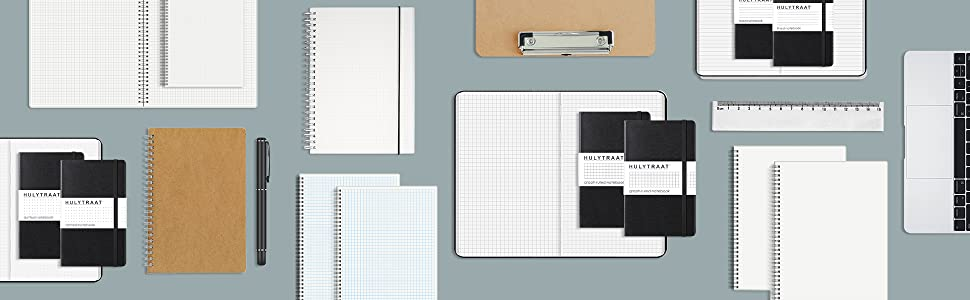 Hardcover executive notebooks and spiral notebooks by HULYTRAAT