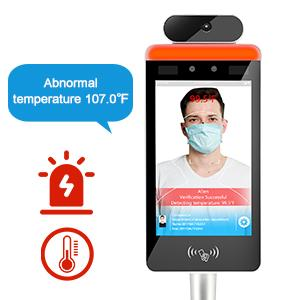 Wi-Fi Non-Contact Face Recognition Temperature  Scanner with with touch screen and face  Library