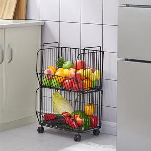 2 tier wire baskets for kitchen