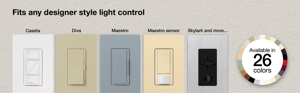 Examples of which product lines work with designer-style wallplates.