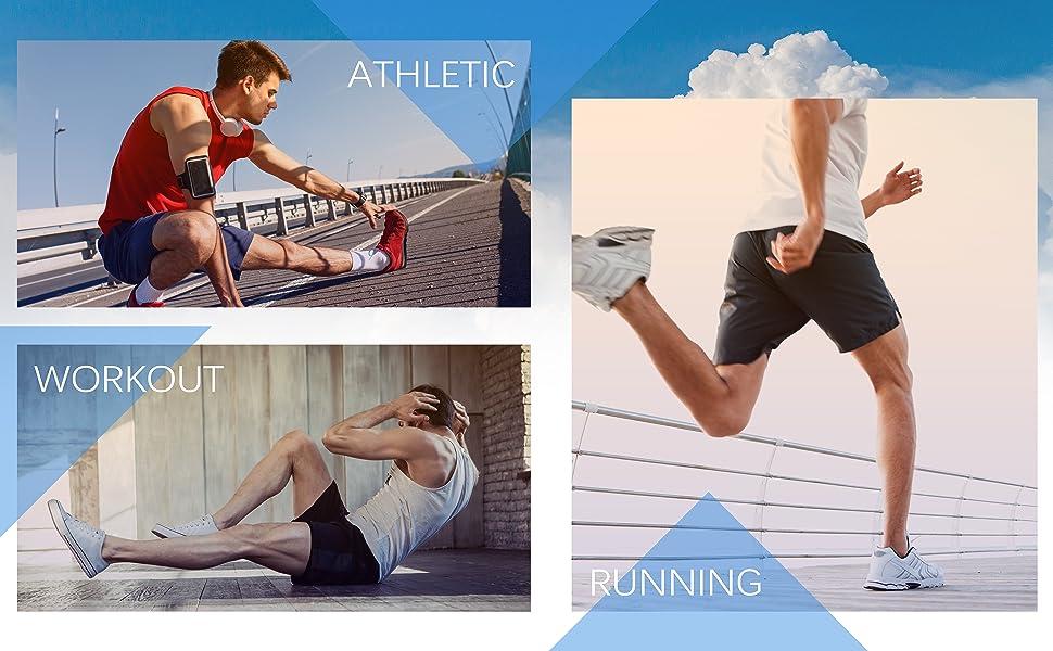 mens workout running shorts size chart