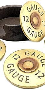 coasters for drinks guns man cave woman cabin wood house shot gun