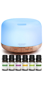 oil diffuser with top 6 essential oils set