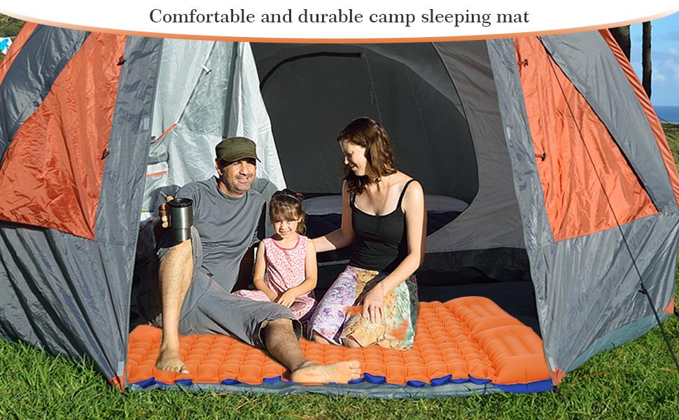 Comfortable and durable camp sleeping mat