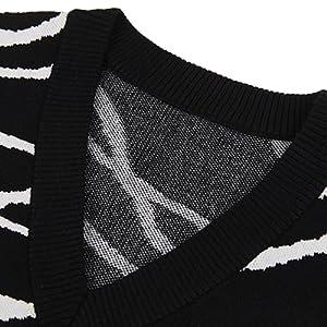 v neck knitted sweater