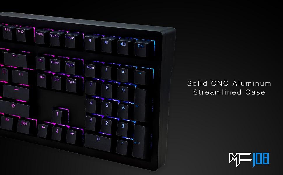 rgb lighting program backlight backlit mechanical keyboard sturdy durable gaming tying gamer