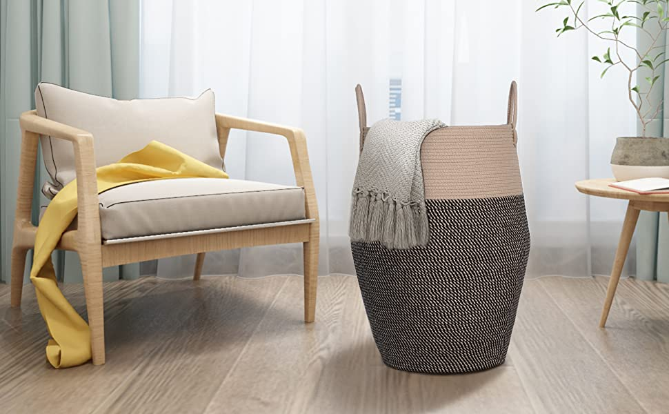 Woven Rope Launry Baskets