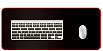 Mousepad for Laptop, Mouse Pads for PC Keyboard with Non-Slip Rubber Base Black with Black Border