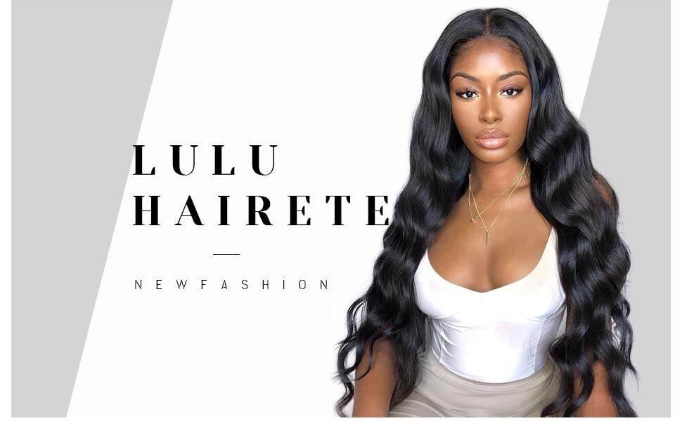 LuLu Haireate Long Body Wave Wig Brown Synthetic Wig for Women with Natural Hairline Daily Wear