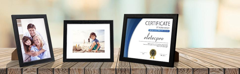 8x10 picture frame black