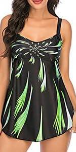 Womens Tankini Swimsuit Plus Size Swimdress
