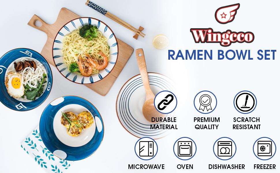 Premium quality ceramic ramen bowls