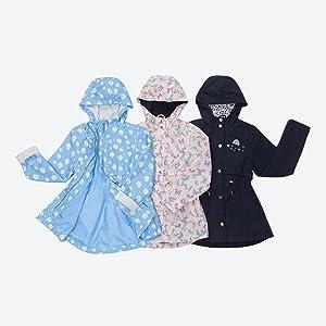 rokka and rolla girls trench jacket peacoat