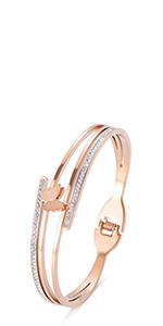 Jertom 14k gold stainless steel cuff bangle bracelet