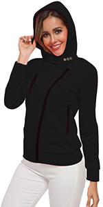 hoodie fleece winter sweatshirt coat