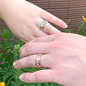 women men wedding band wedding rings