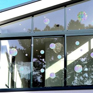anti collision birds strikes window stickers